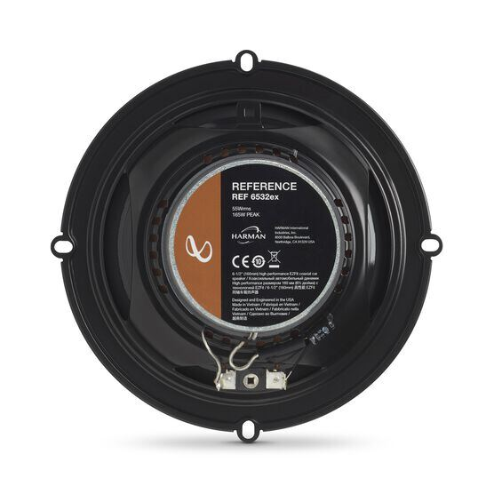 "Reference 6532ex - Black - 6-1/2"" (160mm) shallow-mount coaxial car speaker, 165W - Back"