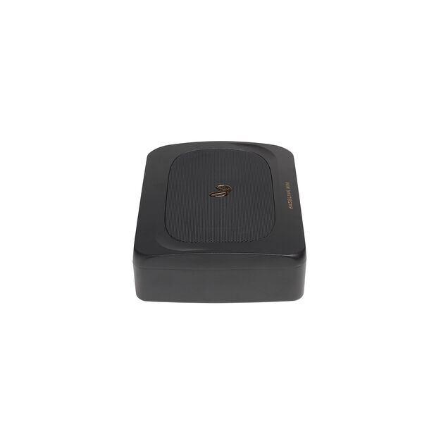 BassLink MINI - Black - Compact Under Seat Powered Subwoofer System - Left
