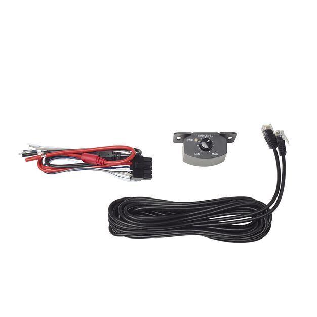 BassLink MINI - Black - Compact Under Seat Powered Subwoofer System - Detailshot 4