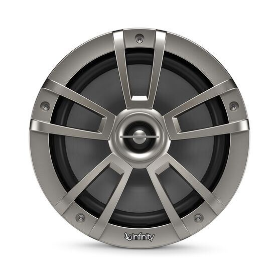 "Reference 822MLT - Graphite - Reference 822MLT—8"" (200mm) two-way marine audio multi-element speaker – titanium - Front"