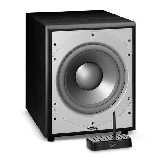 PRIMUS PS 210W - Black - Wireless 10 inch, 300-watt Powered Subwoofer - Hero